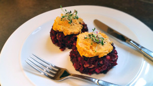 Beetroot, Walnut And Feta Burger
