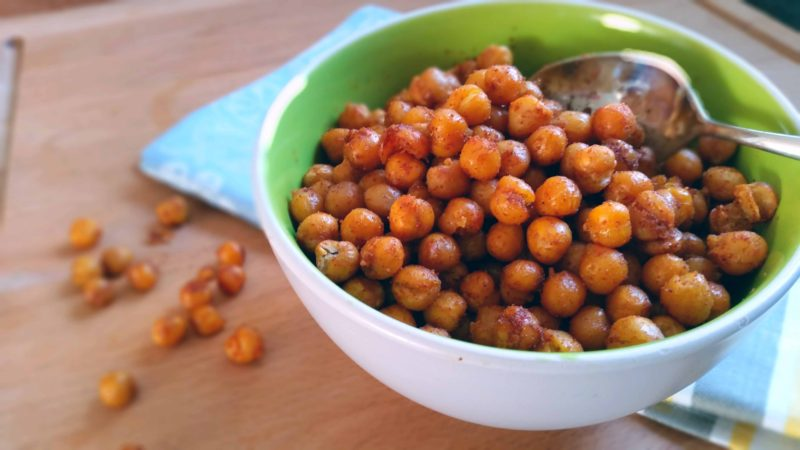 Spicy Oven-Roasted Chickpea Snack - The Healthy Tart