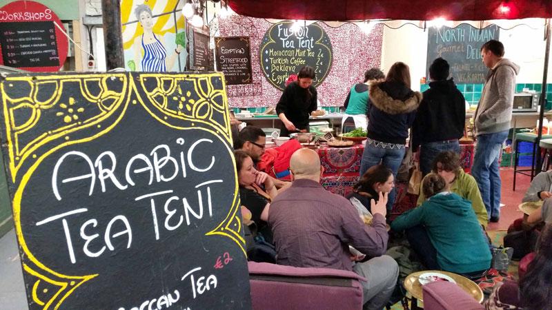 Arabic tent Fusion Sundays market