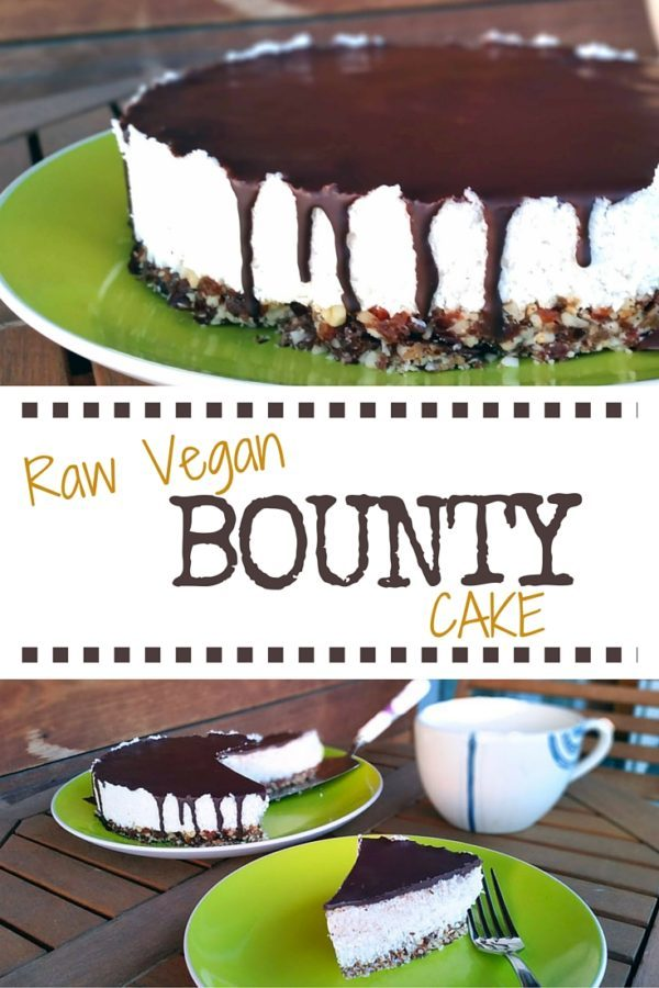 Raw Vegan Bounty Cake Recipe - The Healthy Tart