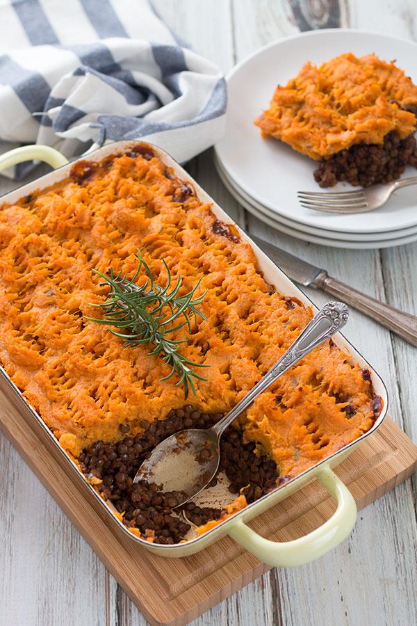 Vegan Shepherd's Pie With Sweet Potatoes