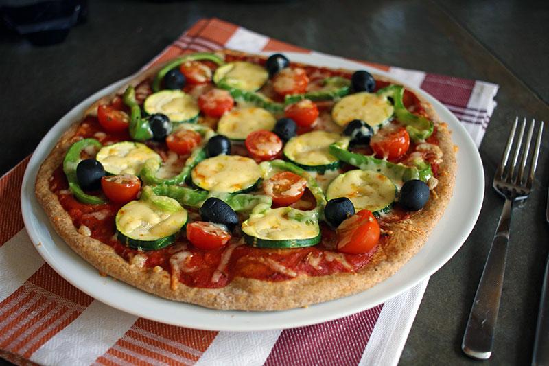 Homemade Vegan Spelt Pizza