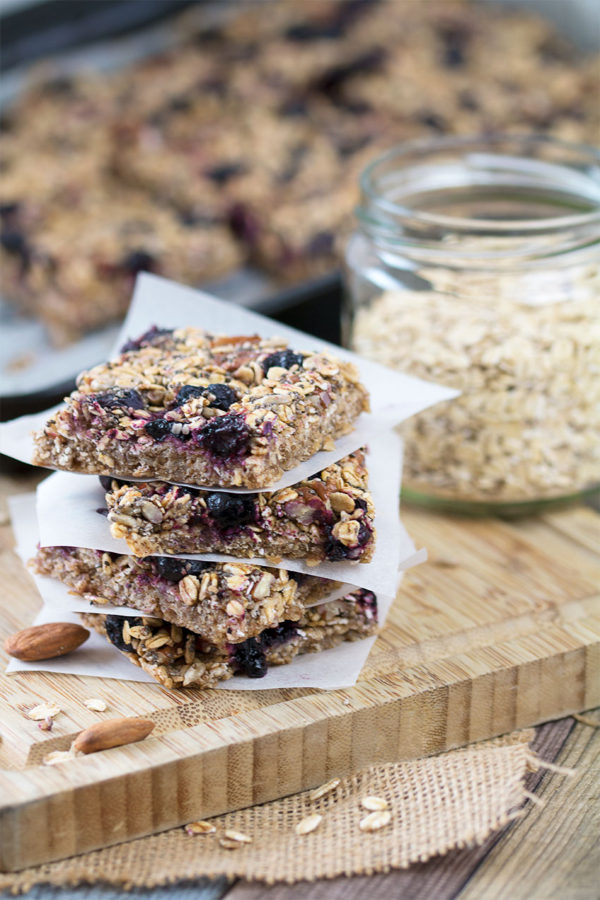 Blueberry Oat Bars Portrait