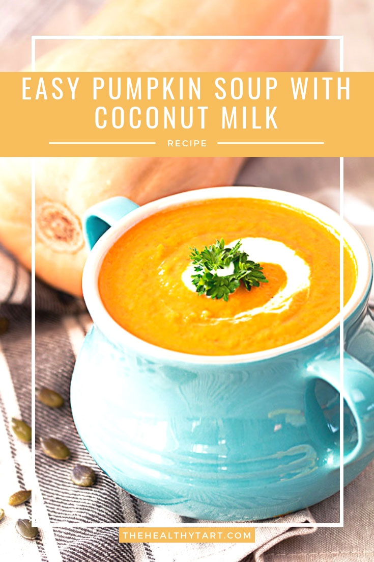 easy pumpkin soup with coconut milk
