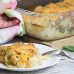 kohlrabi and potato bake with basil sauce