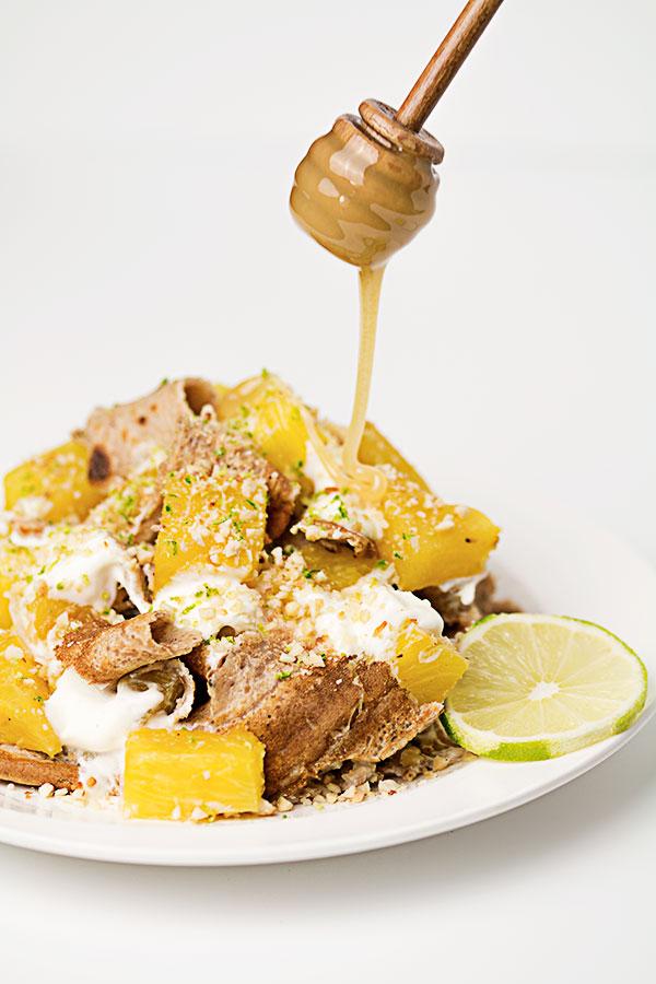 pancake pineapple mess