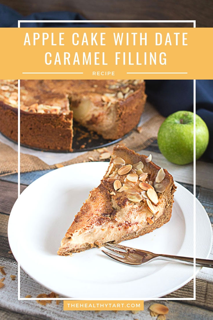 apple cake with date caramel filling