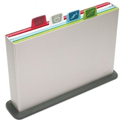 Joseph Joseph Index Chopping Board Set, Large, Silver