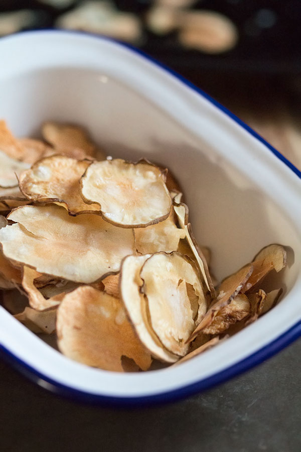 jerusalem artichoke crisps | The Healthy Tart