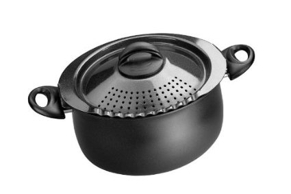 Bialetti 7265 Trends Collection 5 Quart Pasta Pot, Charcoal