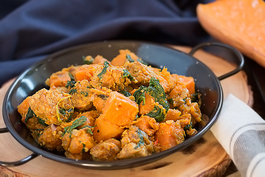 Tempeh, sweet potato and butternut squash hash| The Healthy Tart