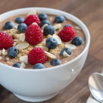 Chocolate Zoats With Bananas And Berries