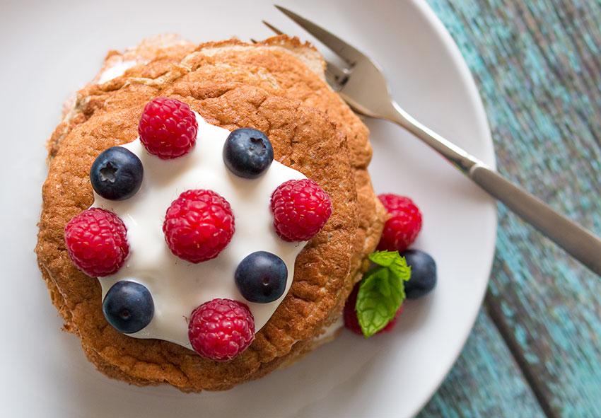 Banana Oat Pancakes with Greek Yoghurt