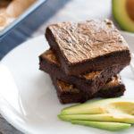 fudgy avocado brownies