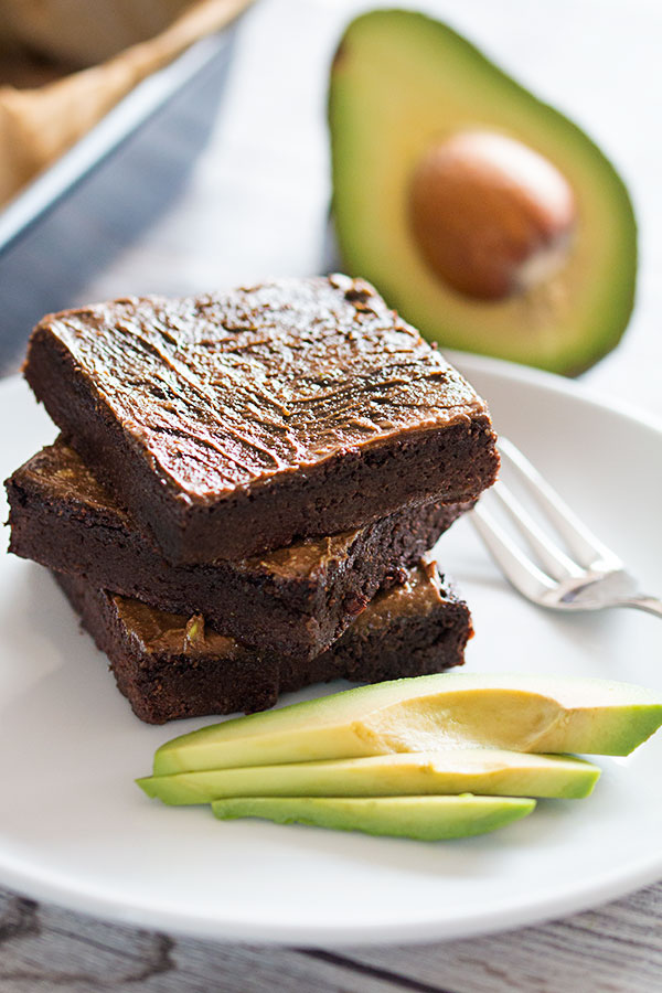 fudgy avocado brownies
