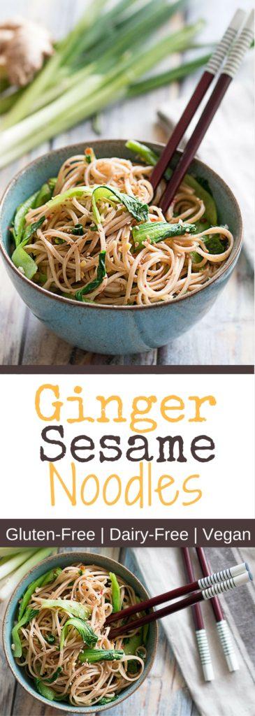 Easy Ginger Sesame Noodles