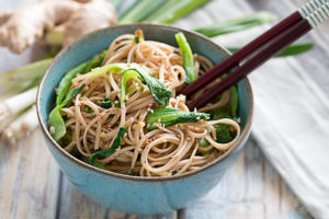 Ginger Sesame Noodles In A Bowl