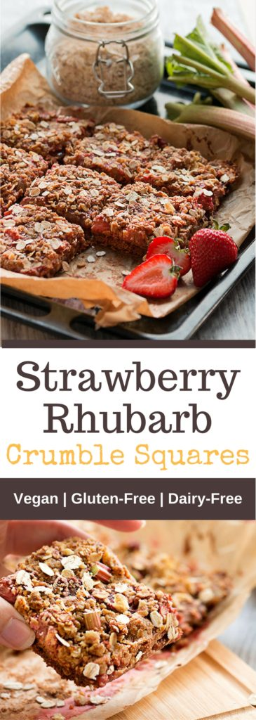 Strawberry Rhubarb Crumble Squares