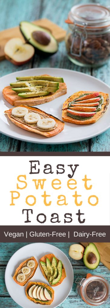 Easy Sweet Potato Toast 3 Ways