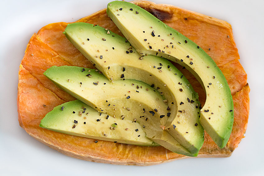 sweet potato toasty with avocado