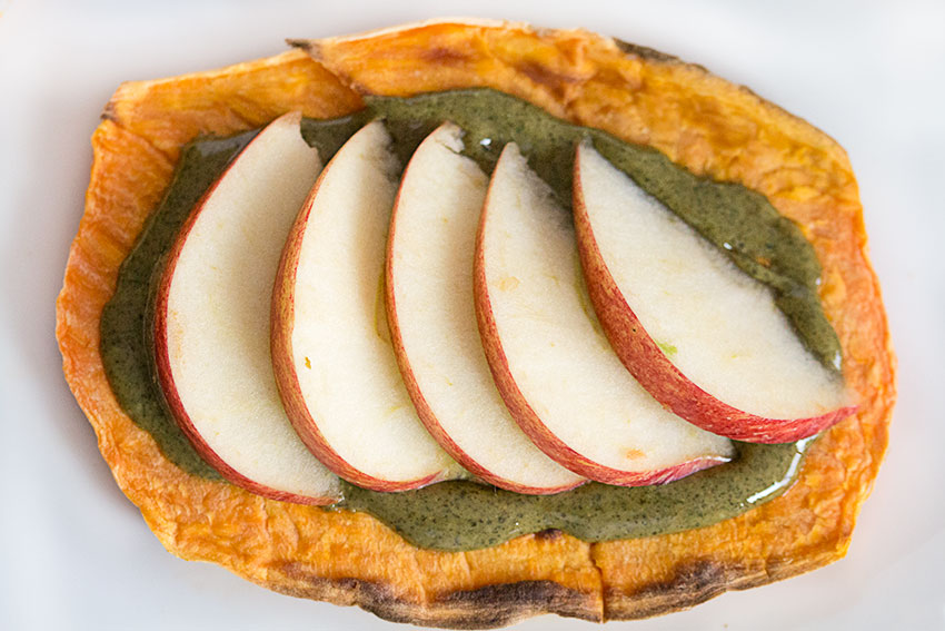 sweet potato toasty with pumpkin seed butter