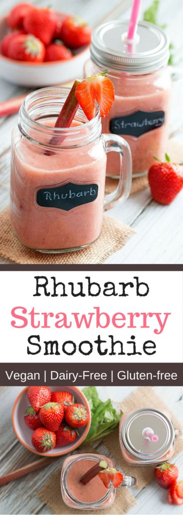 Rhubarb Strawberry Smoothie