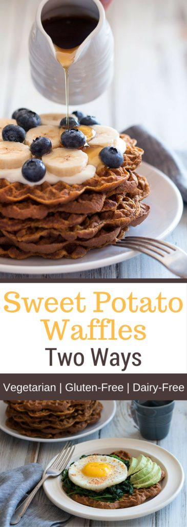 Sweet Potato Waffles Two Ways