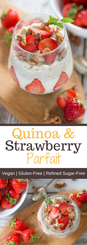 Quinoa and Strawberry Parfait