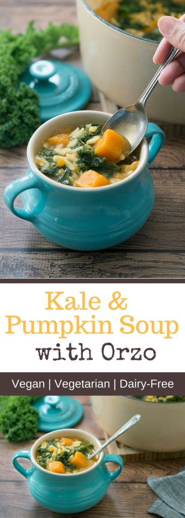 Kale and Pumpkin soup with Orzo