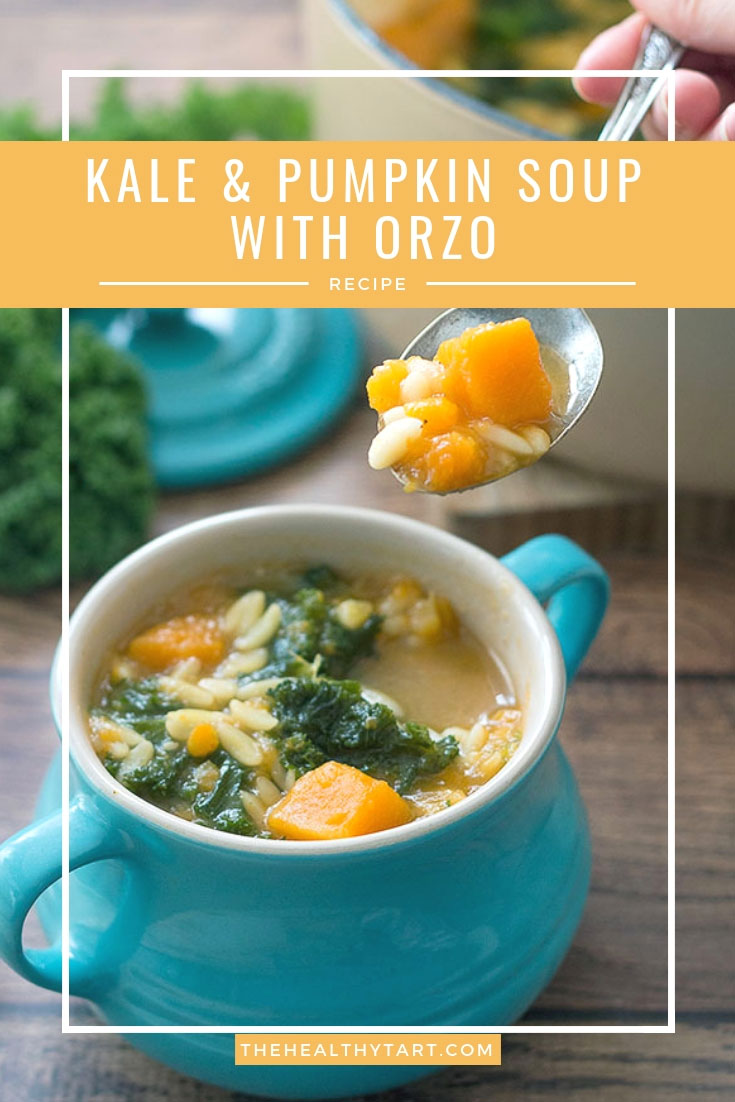 kale & pumpkin soup with orzo