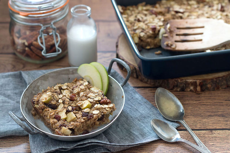 Apple & Cinnamon Baked Oatmeal With Natural Protein