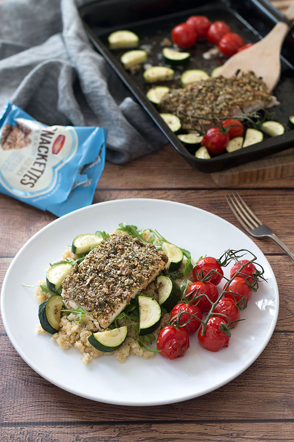 Roasted Hake With Hemp & Herb Crust