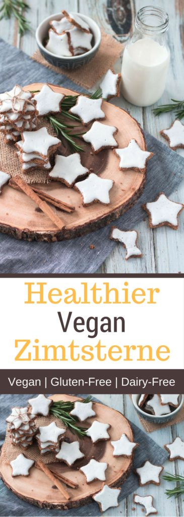 Healthier Vegan Zimtsterne (Cinnamon Stars)