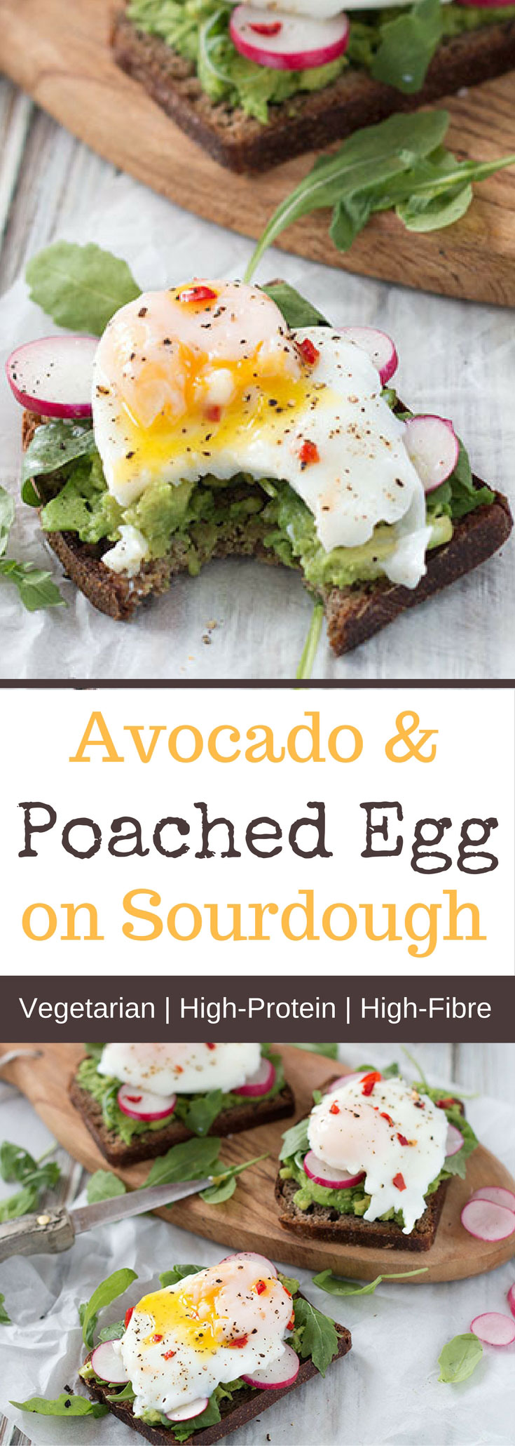 Avocado & Poached Egg On Sourdough Toast
