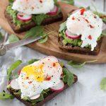 Avocado & Poached Egg on Rye Sourdough Toast