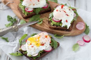 Avocado & Poached Egg on Rye Sourdough Toast