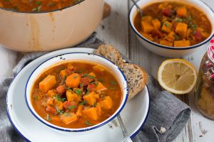 Moroccan-Spiced Sweet Potato And Lentil Soup