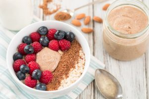 Nourishing Porridge with Berries & Seeds