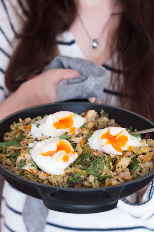 Easy & Healthy Kedgeree Recipe holding pan