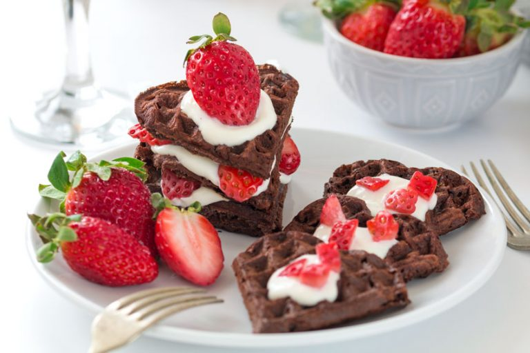 Healthy Homemade Chocolate Waffles