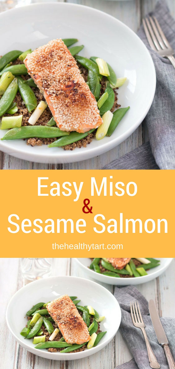 Easy Miso & Sesame Salmon With Sugar Snap Peas