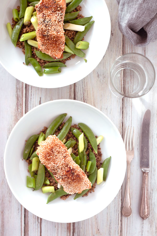Easy Miso & Sesame Salmon