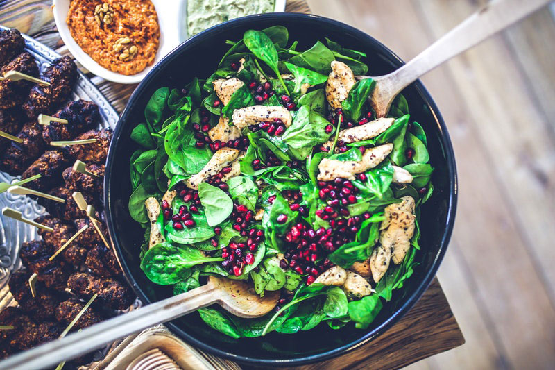 workout nutrition food salad healthy lunch