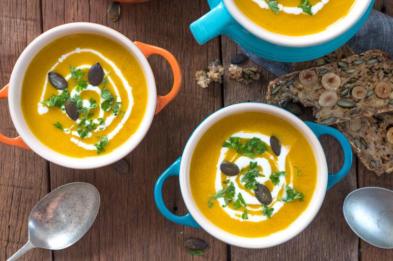Easy Sweet Potato & Apple Blender Soup