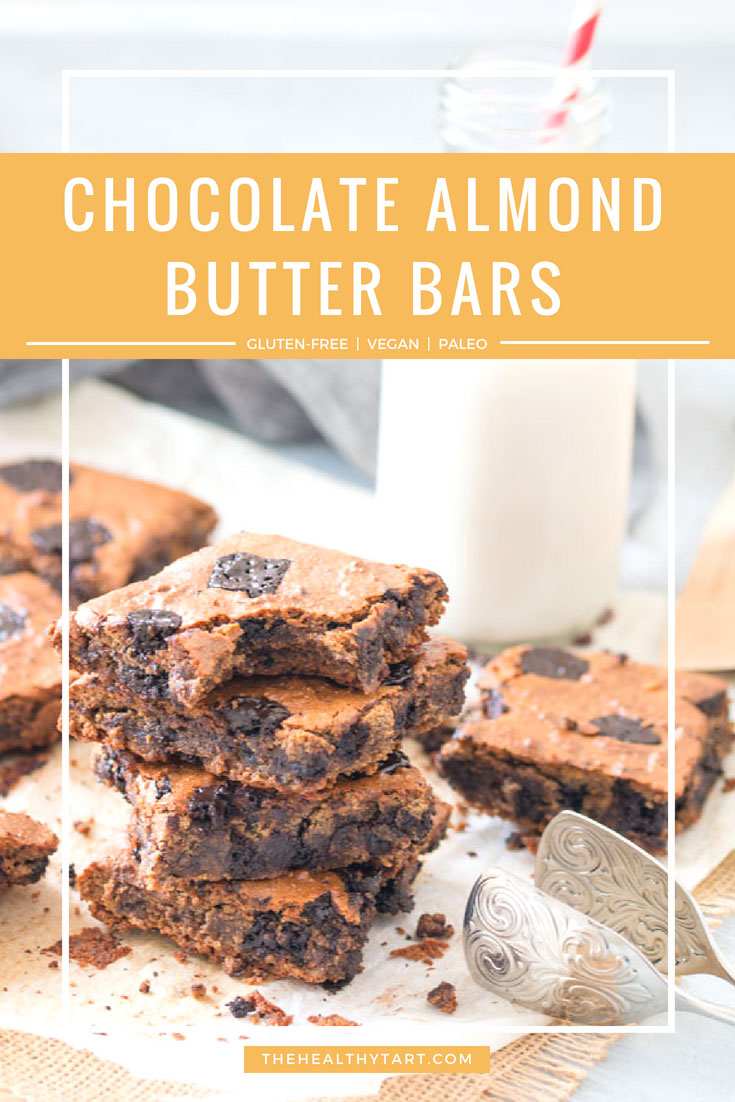 chocolate almond butter bars