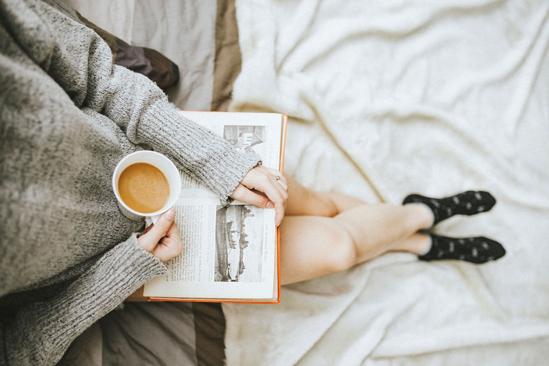relax with book