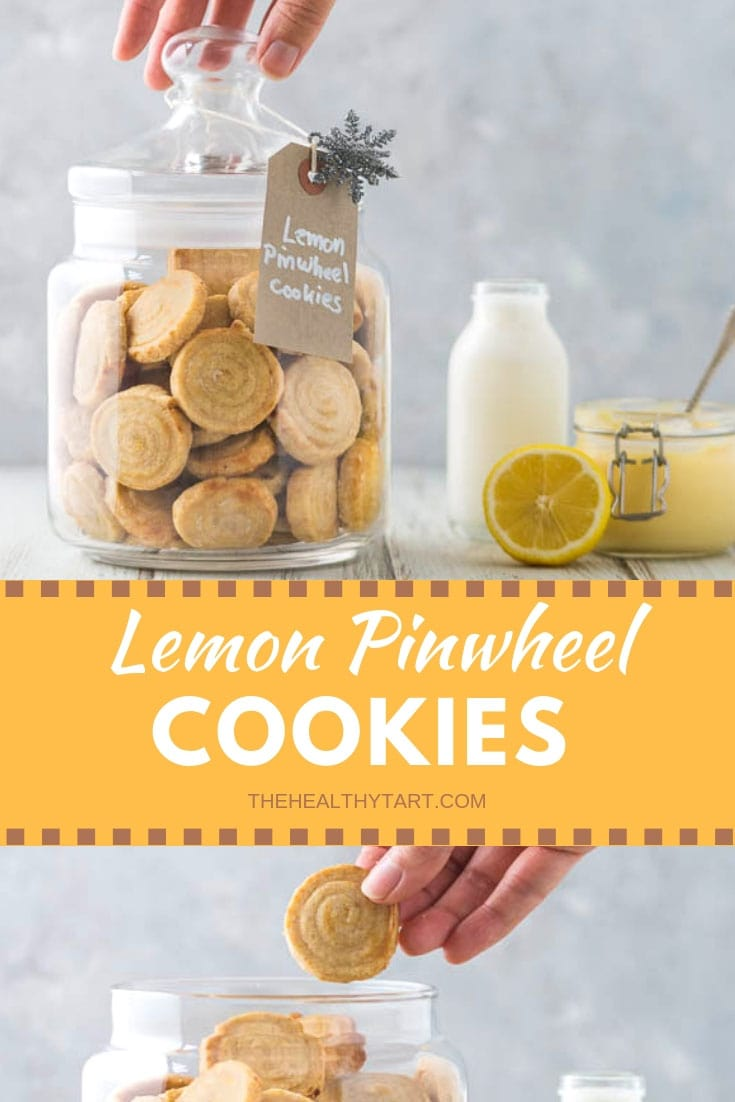Lemon Pinwheel Cookies