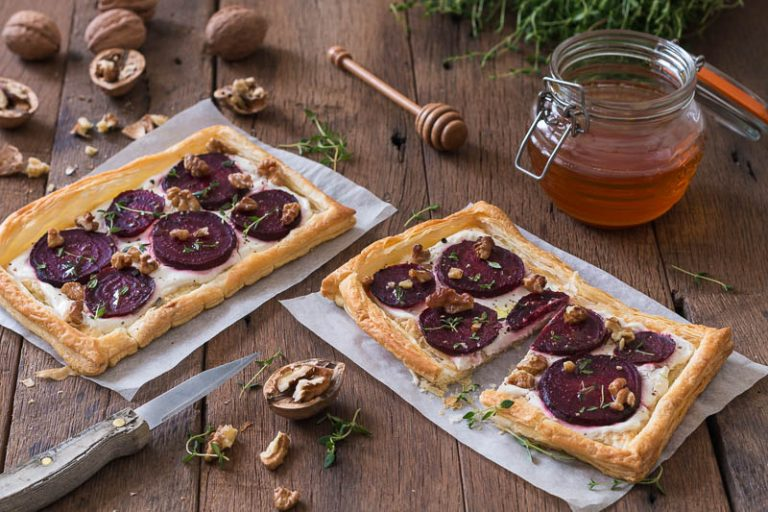 Beetroot and Goats Cheese Tart