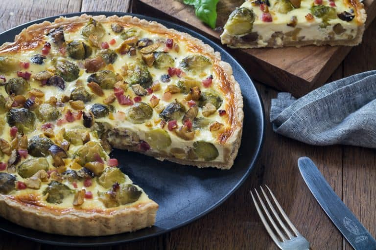 Brussels Sprouts and Chestnut Quiche