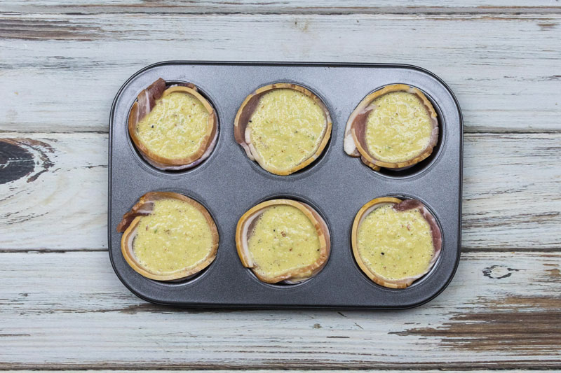 Apple and Bacon Egg Muffins filling